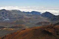 De vulkaan van Haleakala, Maui Stock Afbeelding