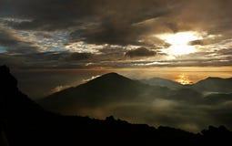 De vulkaan van Haleakala van de zonsopgang Stock Afbeelding
