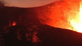 De vulkaan van IJsland stock video