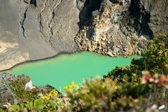 De Krater van de Vulkaan van Irazu royalty-vrije stock afbeelding