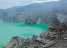 De Vulkaan van Kawahijen in Java, Indonesië Royalty-vrije Stock Afbeeldingen