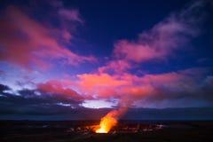 De vulkaan van Kilauea Royalty-vrije Stock Afbeeldingen