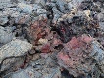 De vulkaan van Kilauea, lavastroom van 1974 op Groot Eiland, Hawaï Stock Afbeeldingen