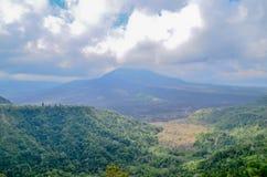 De Vulkaan van Kintamanibatur de bezienswaardigheid in Bali stock fotografie