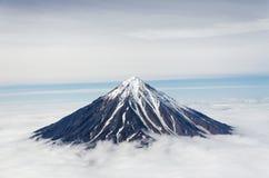 De vulkaan van Koryaksky Royalty-vrije Stock Foto
