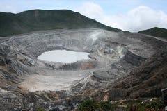De vulkaan van Poas Stock Afbeeldingen