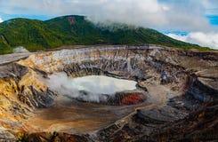 De Vulkaan van Poas, Costa Rica royalty-vrije stock foto's