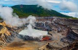 De Vulkaan van Poas, Costa Rica stock fotografie