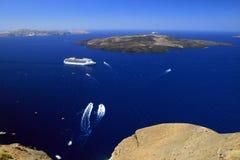 De Vulkaan van Santorini Stock Foto