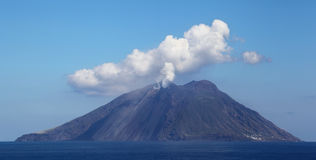 De Vulkaan van Stromboli, Italië Royalty-vrije Stock Foto's