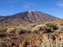 De vulkaan van Teide van ver stock fotografie