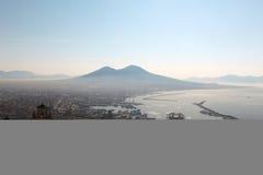 De vulkaan van Vesuvio Stock Foto's