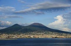 De vulkaan van Vesuvio Napels Italië Royalty-vrije Stock Fotografie