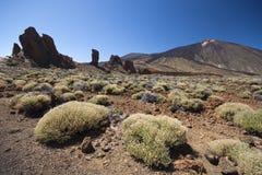 De vulkaanlandschap van Gr Teide stock afbeelding