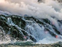 De Vulkanen Nationaal Park van Hawaï Stock Afbeeldingen