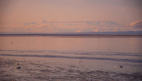 De Vulkanen van Alaska en Bergpieken van de het Noorden Noordpoolcirkel stock afbeeldingen