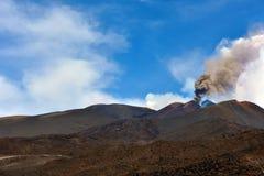 De vulkanen van Etna Stock Foto's