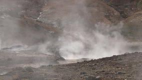 De vulkanische hete lente stock videobeelden
