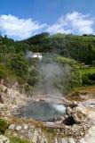 De vulkanische hete lente in Furnas de Azoren Stock Fotografie