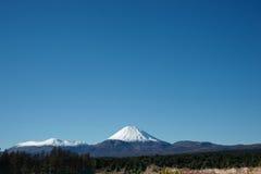 De vulkanische kegel, zet Ngarauhoe, Nieuw Zeeland op. Royalty-vrije Stock Fotografie