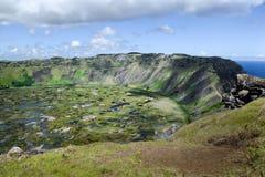 De Vulkanische Krater op Pasen-Eiland Royalty-vrije Stock Foto's