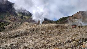 De vulkanische Ring van Bergpapandayan Indonesië van Brand stock fotografie