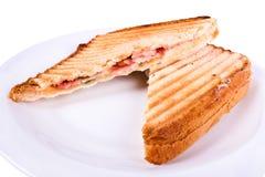 De vullingen van de sandwich Stock Fotografie
