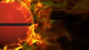 De vurige Animatie van de MANDbal, het Teruggeven, Achtergrond, Lijn, 4k stock illustratie