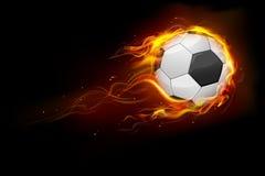 De vurige Bal van het Voetbal Royalty-vrije Stock Afbeelding