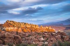 De vurige Oven overziet Bogen Nationaal Park stock foto