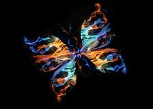 De vurige vlinder Royalty-vrije Stock Fotografie
