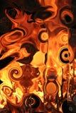 De vuurhaard van het glas Stock Foto