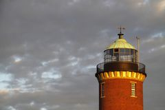 De vuurtoren in Cuxhaven stock fotografie
