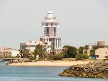 De vuurtoren Isla Cristina, Spanje stock afbeelding
