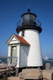 De Vuurtoren Nantucket van het Punt van zwarte gans Stock Afbeeldingen