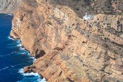 De Vuurtoren op Punta DE l'Albir Altea, Alicante, Spanje kust Royalty-vrije Stock Foto's