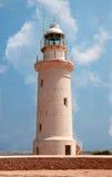 De vuurtoren Paphos, Cyprus Royalty-vrije Stock Foto
