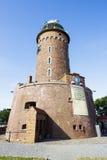 De vuurtoren van baksteen, Kolobrzeg, Polen wordt gemaakt dat Stock Afbeeldingen
