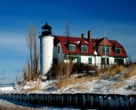 De Vuurtoren van Betsie van het punt, Crystalia, Michigan Stock Fotografie