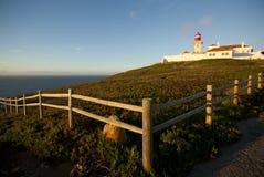 De vuurtoren van Cabo DA Roca, Portugal Royalty-vrije Stock Foto's