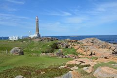 De Vuurtoren van Cabopolonio in Uruguay Royalty-vrije Stock Foto's