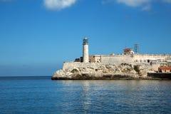 De vuurtoren van Castillo Del Morro in Cuba royalty-vrije stock afbeelding