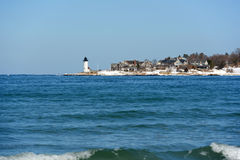 De Vuurtoren van de Annisquamhaven, Kaap Ann, Massachusetts Royalty-vrije Stock Fotografie