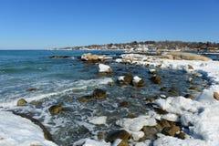 De Vuurtoren van de Annisquamhaven, Kaap Ann, Massachusetts Royalty-vrije Stock Foto