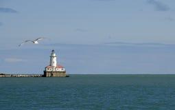 De Vuurtoren van de Haven van Chicago Stock Afbeeldingen