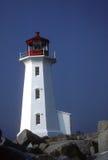 De Vuurtoren van de Inham van Peggy - Nova Scotia Stock Foto's