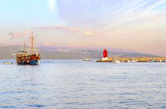 De vuurtoren van de Krkstad, Kroatië Royalty-vrije Stock Foto's
