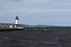 De Vuurtoren van de Pijler van Duluth N Royalty-vrije Stock Foto's