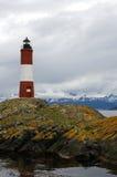 De Vuurtoren van Eclaireurs van Les, Ushuaia, Patagonië, Argentinië stock afbeeldingen