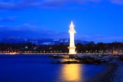 De vuurtoren van Genève Stock Afbeelding